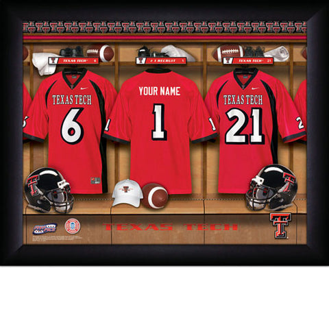 Personalized College Football Locker Room Sign - Texas Tech