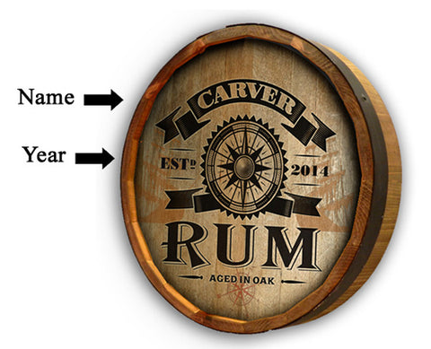 Personalized Rum Quarter Barrel Sign