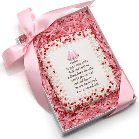 Personalized Will You Be My Flower Girl? Edible Cookie Cards
