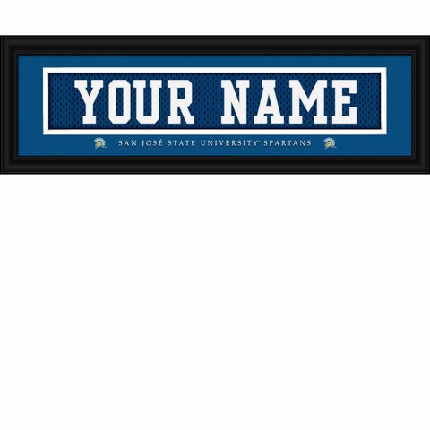 San Jose State Spartans Personalized Stitch Jersey Sign