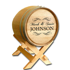 5 Gallon Wedding Barrel - Scroll Name