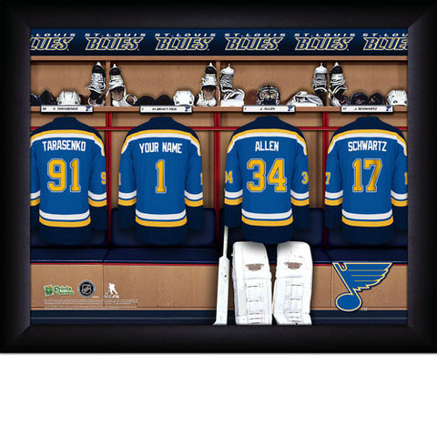Personalized NHL St. Louis Blues Locker Room Sign