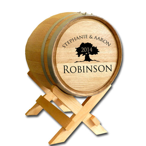 5 Gallon Wedding Barrel - Tree