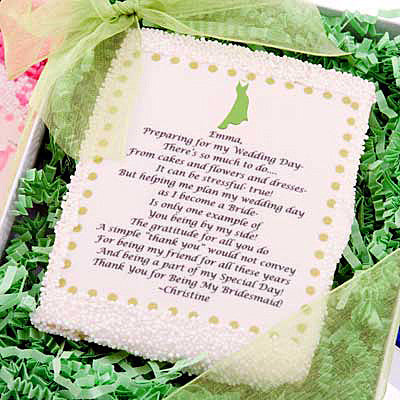 Personalized Edible Bridesmaid Thank you card - Exclusive