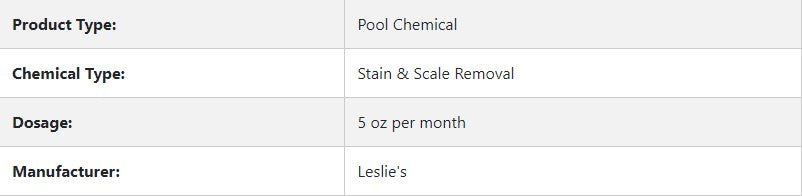 Leslie's Stain And Scale Prevent 1/2 G