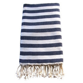 Large Turkish Towel - Navy