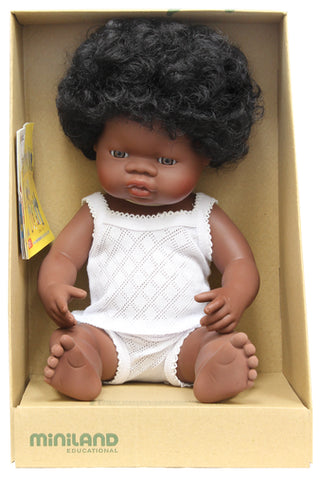 Miniland Anatomically Correct Baby Doll - 38cm African