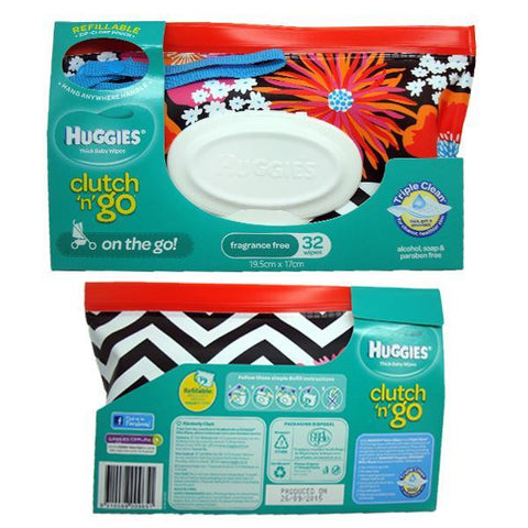 Huggies Clutch 'n' Go Wipes Wallet - Flowers
