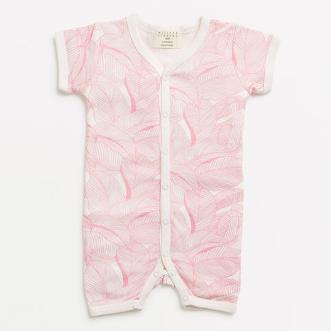 Into the Jungle Pink Short Sleeve Growsuit