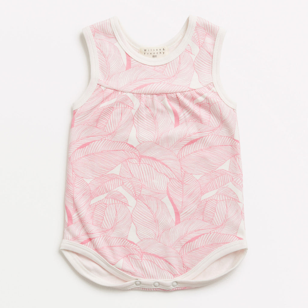 Into the Jungle Pink Singlet Bodysuit
