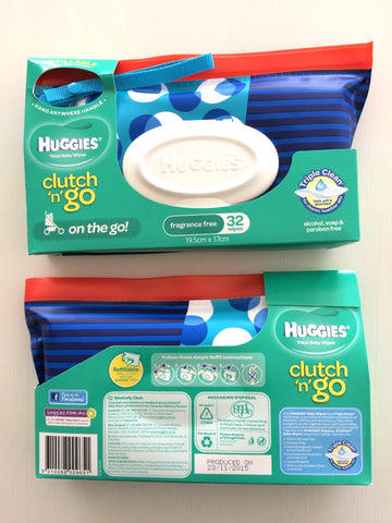 Huggies Clutch 'n' Go Wipes Wallet - Blue Spots