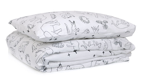 Crossing the Jungle King Single Duvet Set