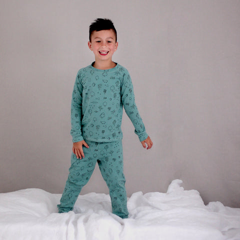 Wilder Garden Jungle Pyjama's - Ocean