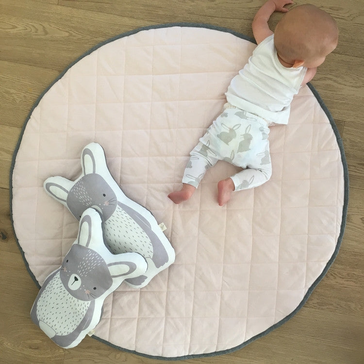 baby playmat quilted pink by MisterFly