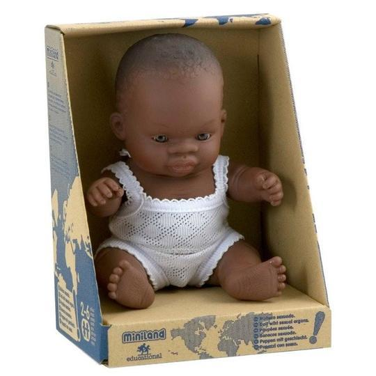 Miniland Anatomically Correct Baby Doll - 21cm African