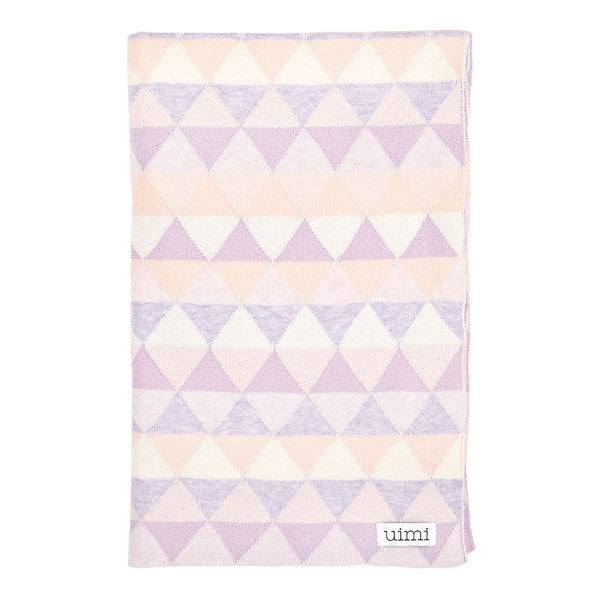 Children's organic cotton cot blanket for baby gift - Uimi Bindi Blanket pink