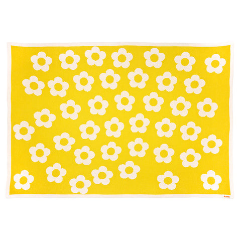 Daisy Chain Blanket - Canary