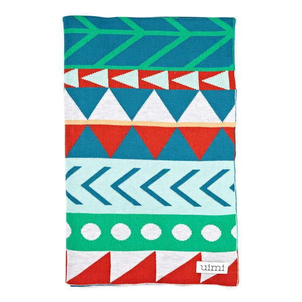 Children's Organic Cotton Cot blanket for baby gift - Uimi Dakota