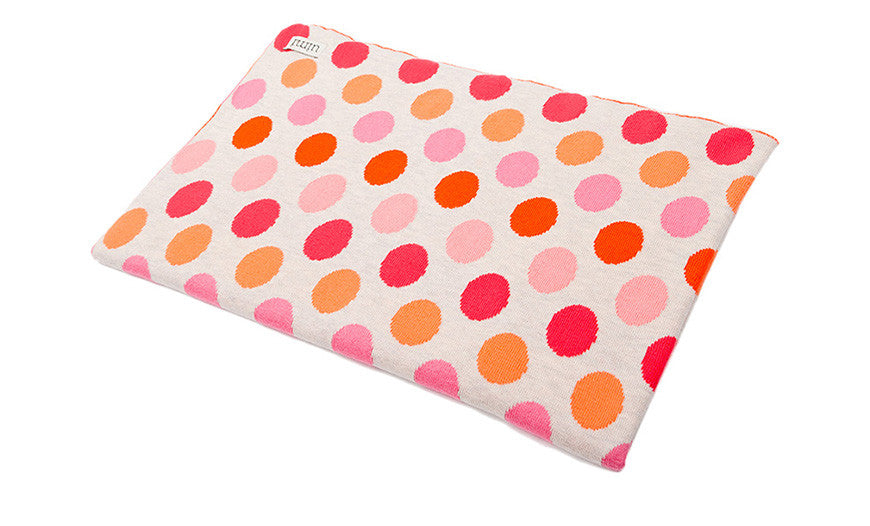 Children's Organic Cotton Cot blanket for baby gift - Uimi Dotty