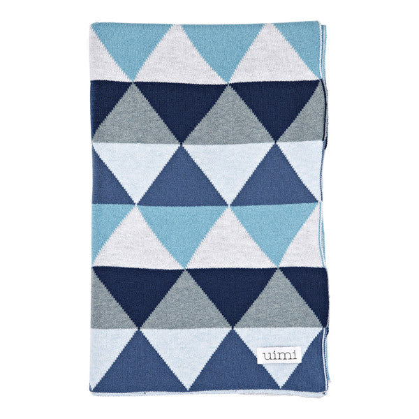 Children's Organic Cotton Cot blanket for baby gift - Uimi Indiana