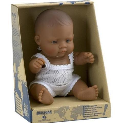 Miniland Anatomically Correct Baby Doll - 21cm Hispanic