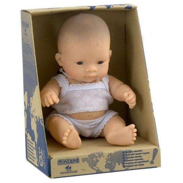 Miniland Anatomically Correct Baby Doll - 21cm Asian