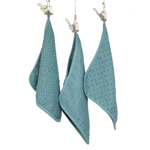Wilder Garden wash cloth set (3 cloths) - Ocean