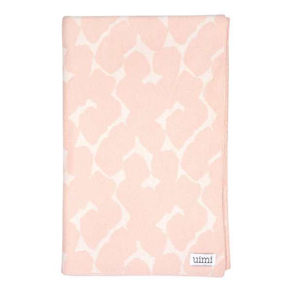 Children's Organic Cotton Cot Blanket for Baby Gift - Uimi Petal Pink