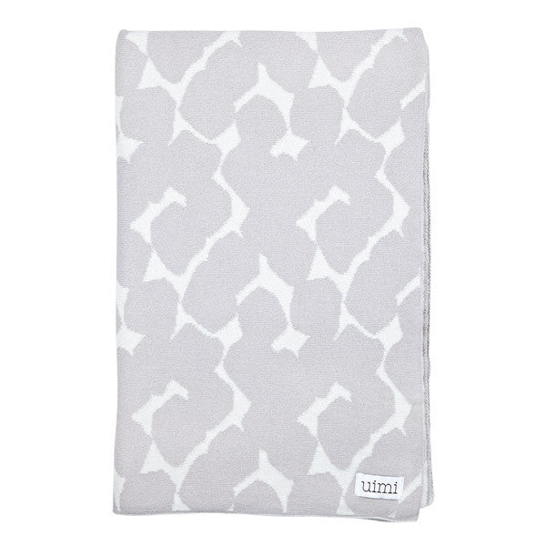 Children's Organic Cotton Cot Blanket for Baby Gift - Uimi Petal Grey