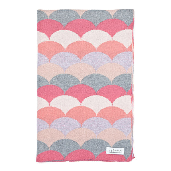 Children's Organic Cotton Cot Blanket for Baby Gift - Uimi Phoenix Strawberry Pink
