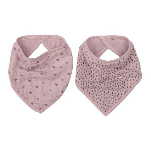 Wilder Garden Vintage Pink muslin dribble bib set of 2