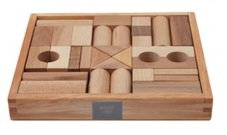 Wooden Story 30pcs blocks Natural