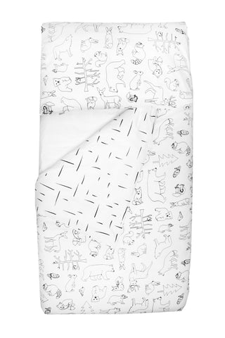 Woodland Dash Cot Duvet Cover Set