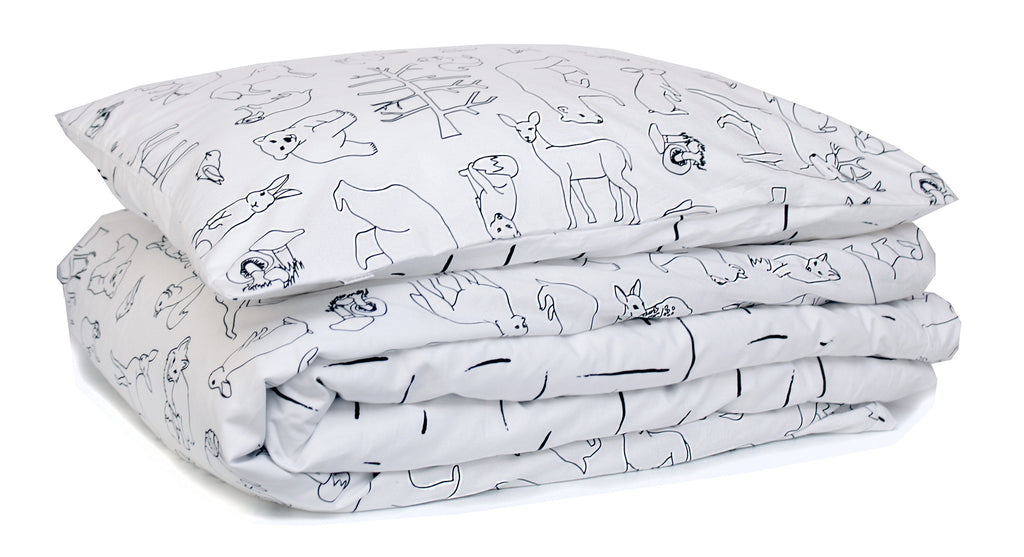 Burrow & Be Woodland Dash Cot Duvet Set