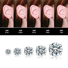 Load image into Gallery viewer, 5 Pairs Stud Earrings Set, Hypoallergenic Cubic Zirconia 316L Earrings Stainless Steel CZ Earrings 3-8mm, Rose Gold (Rose gold)