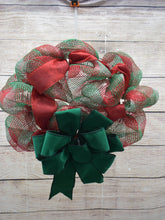 Load image into Gallery viewer, Red and Green Wreath, Christmas wreath, wreath for front door, window, wall