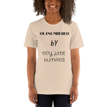 Load image into Gallery viewer, outnumbered by tiny little humans shirt, funny shirt, mom shirt, mom, kids