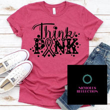 Load image into Gallery viewer, breast cancer tee; pink ribbon t-shirt;