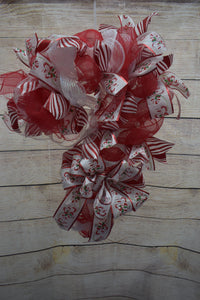Candy Cane Wreath, Christmas Wreath, Wreath for door
