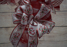 Load image into Gallery viewer, Candy Cane Wreath, Christmas Wreath, Wreath for door