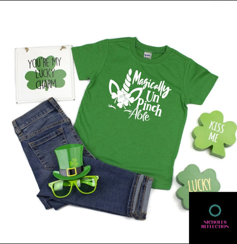 Magically unpinchable tshirt, st patricks day shirt, kids shirt