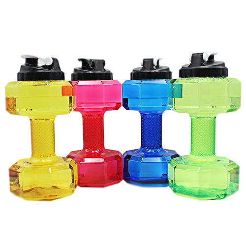 Doatry 2.2L Large Capacity Water Bottles Outdoor Sport Gym Training Drink Dumbbell Workout Water Bottle BPA Free