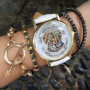 HOGWARTS Magic School Watches Fashion Women Wristwatch Casual Luxury Quartz Watches Clocks