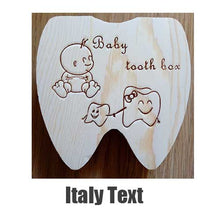 Load image into Gallery viewer, Baby Tooth Box Wooden Milk Teeth Organizer Storage Boys Girls Baby Souvenirs Gift