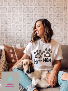 dog mom tee, rescue mom shirt, custom tshirt