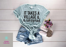 Load image into Gallery viewer, Village and Vineyard tee, womens tshirt, custom shirt