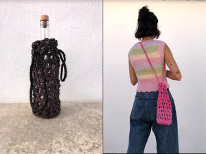 Bags Made Out Of Bags Bottle Bag