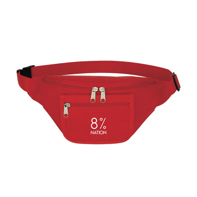 8% Red Fanny Pack