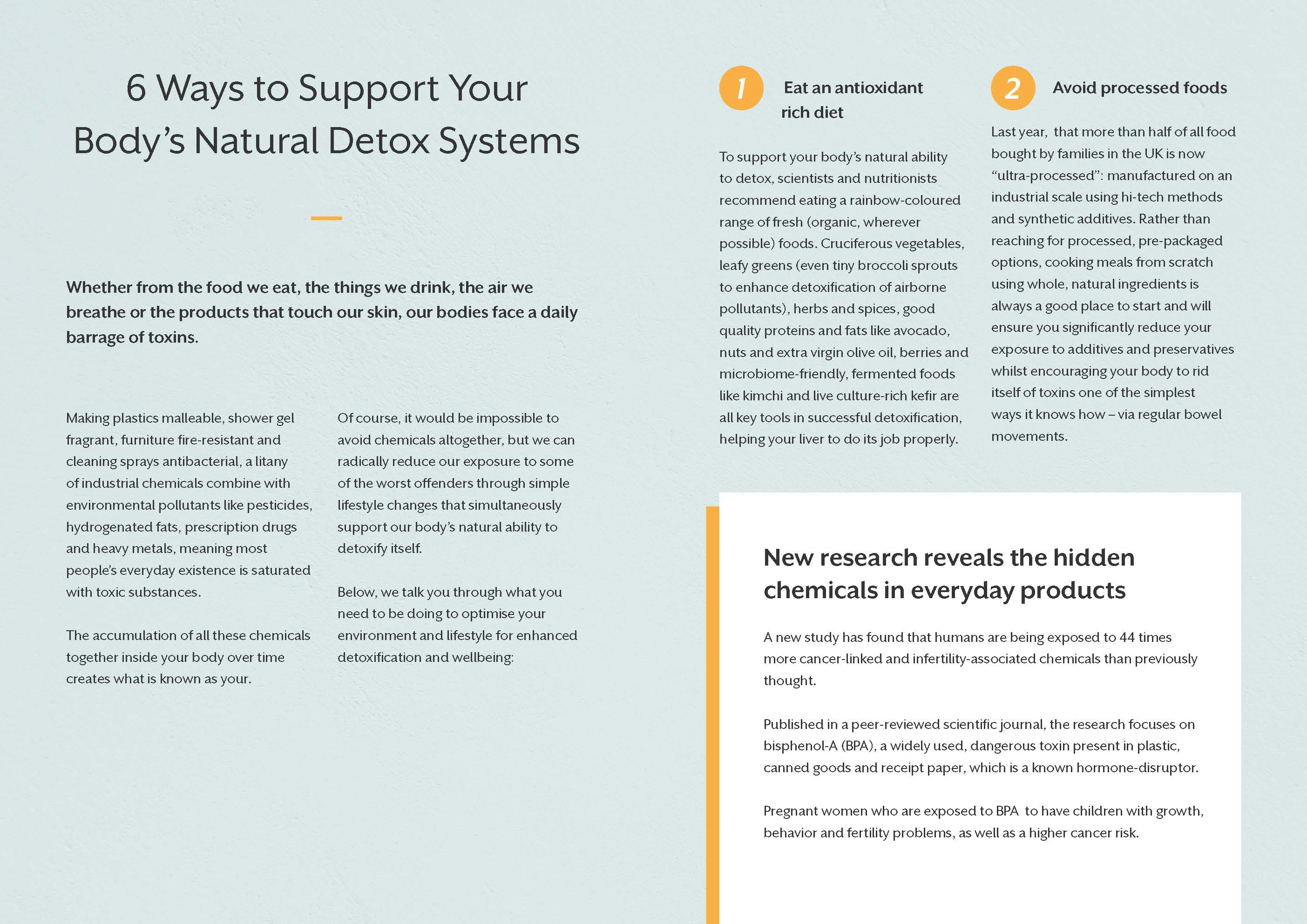 6 Ways to Support Your Body's Natural Detox Systems