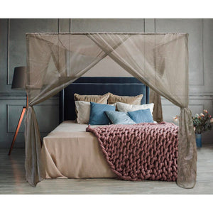 BlocSilver Four-Poster EMF Protection Bed Canopy With Easy-Assemble Frame | Conscious Spaces